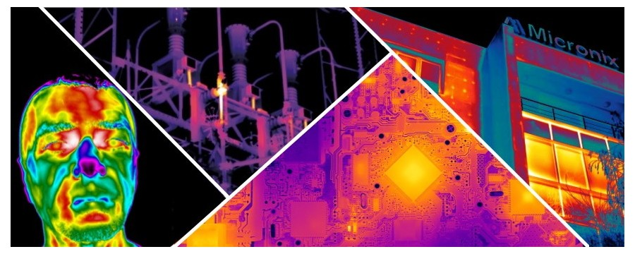 Termografie industriala, scanarea termica a cladirilor, scanere medicale, detectie foc